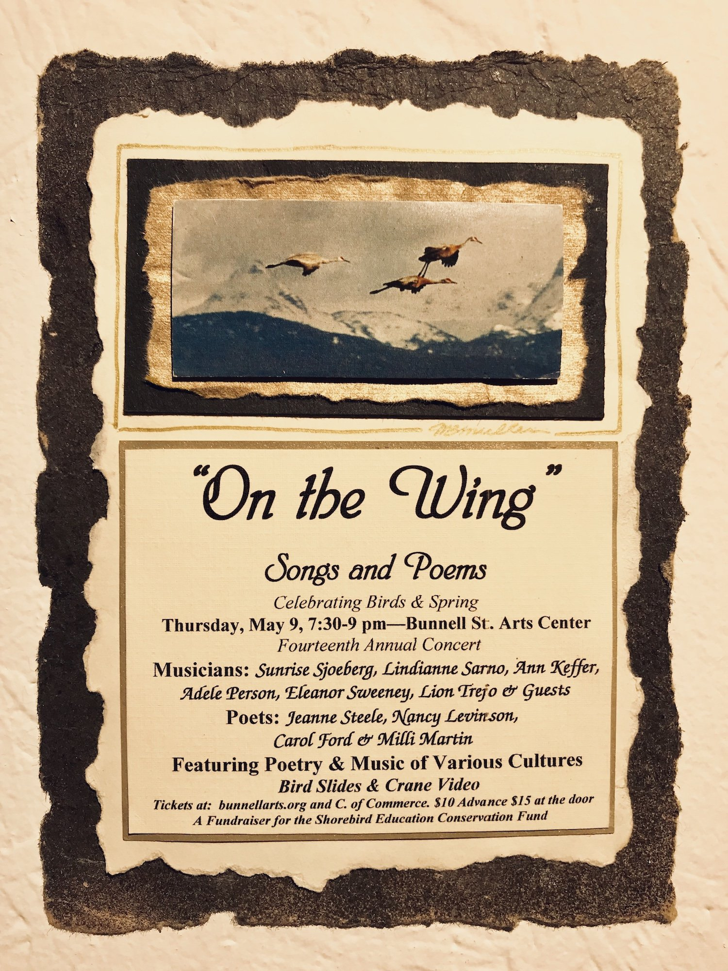 On The Wing Concert, May 9 7:30