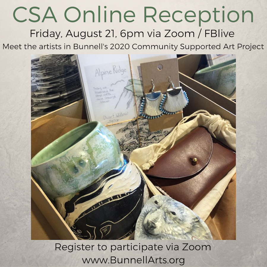 CSA Online Reception, Friday, August 21, 6pm via Zoom /FBlive