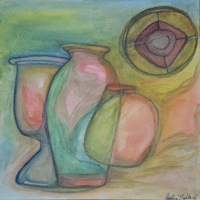 Three Vases With A Lid By Sadie Millard