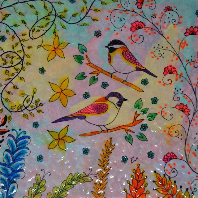 Two Birds By Eva Stovall