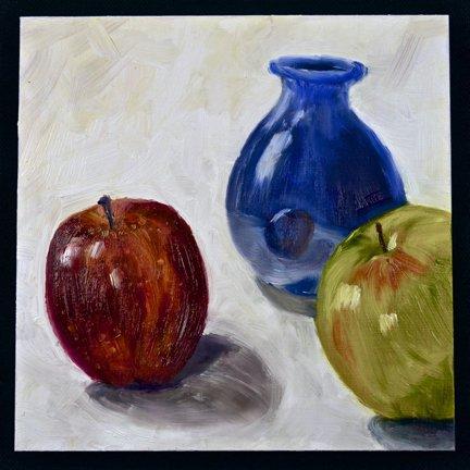 Gloria Mumm: Still Life With Blue Vase