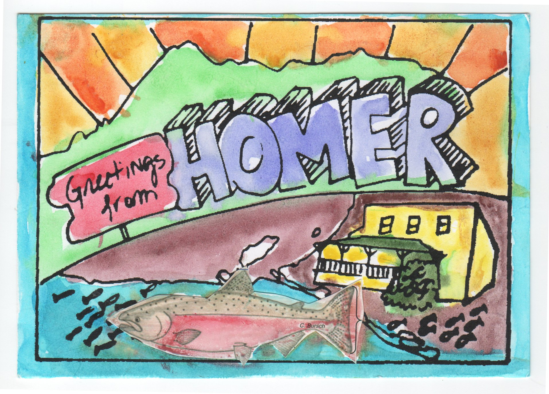 Greetings From Homer – Postcard Of The Day!