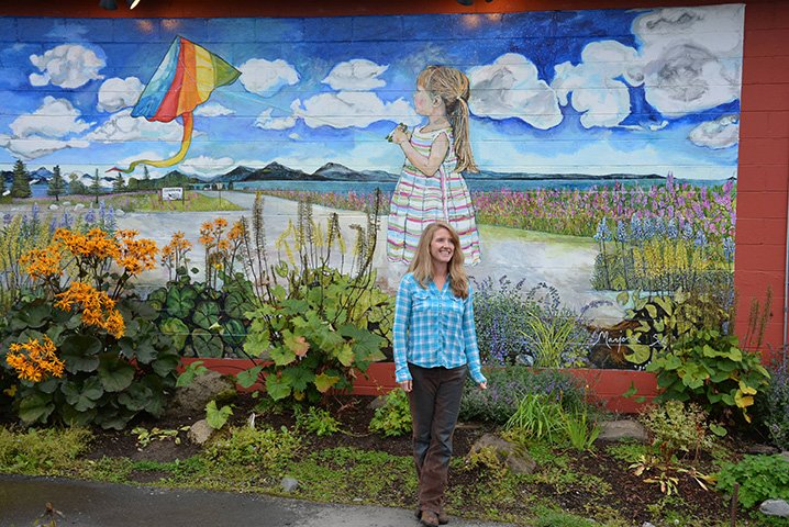 Marjorie Scholl's Mural Unveiled At Fat Olives