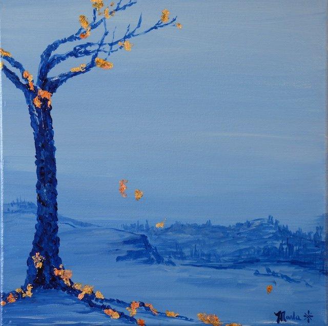 Marla Kvasnikoff, Blue And Gold 22