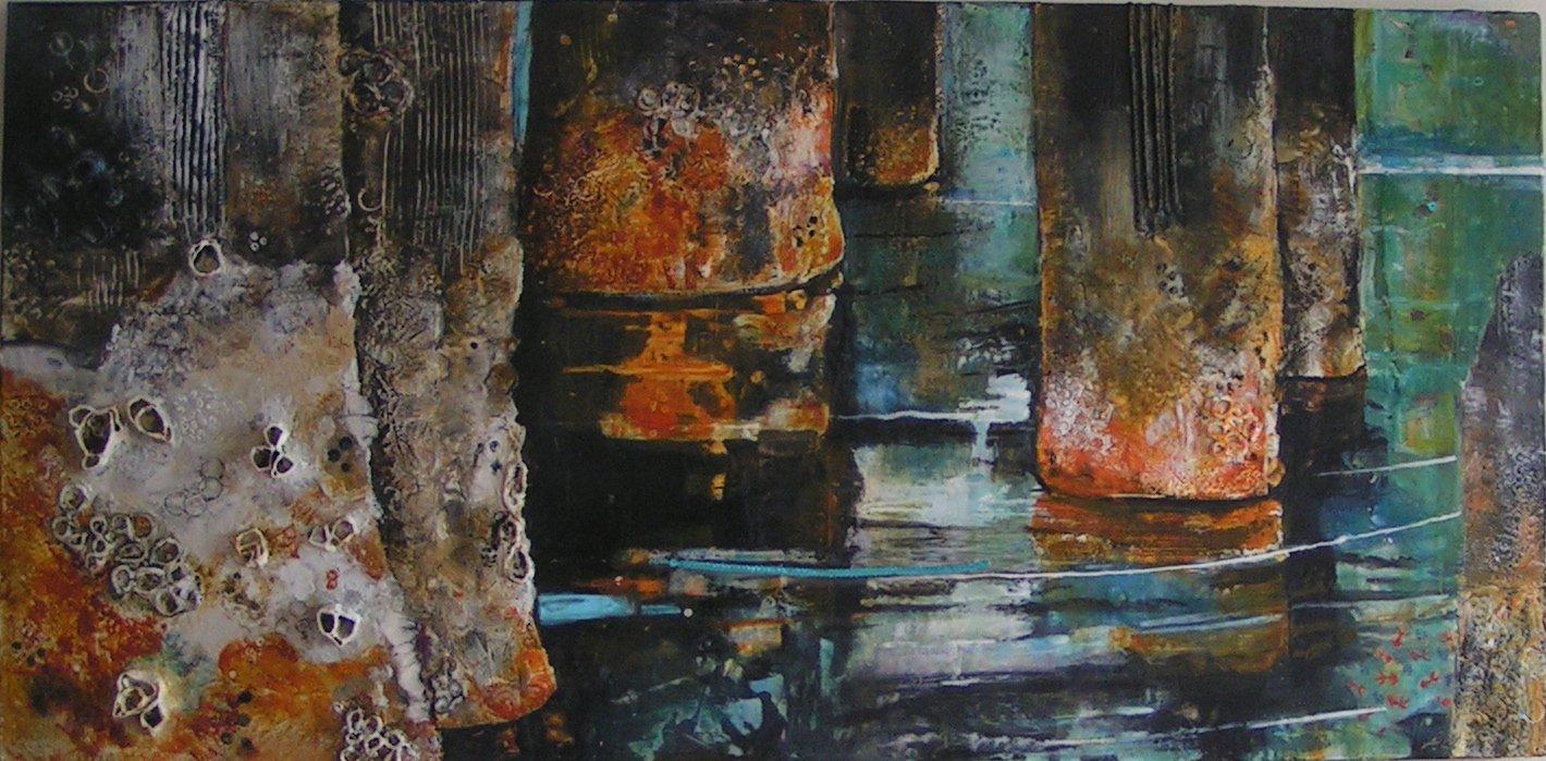 Piers 48x36 by Antoinette Walker