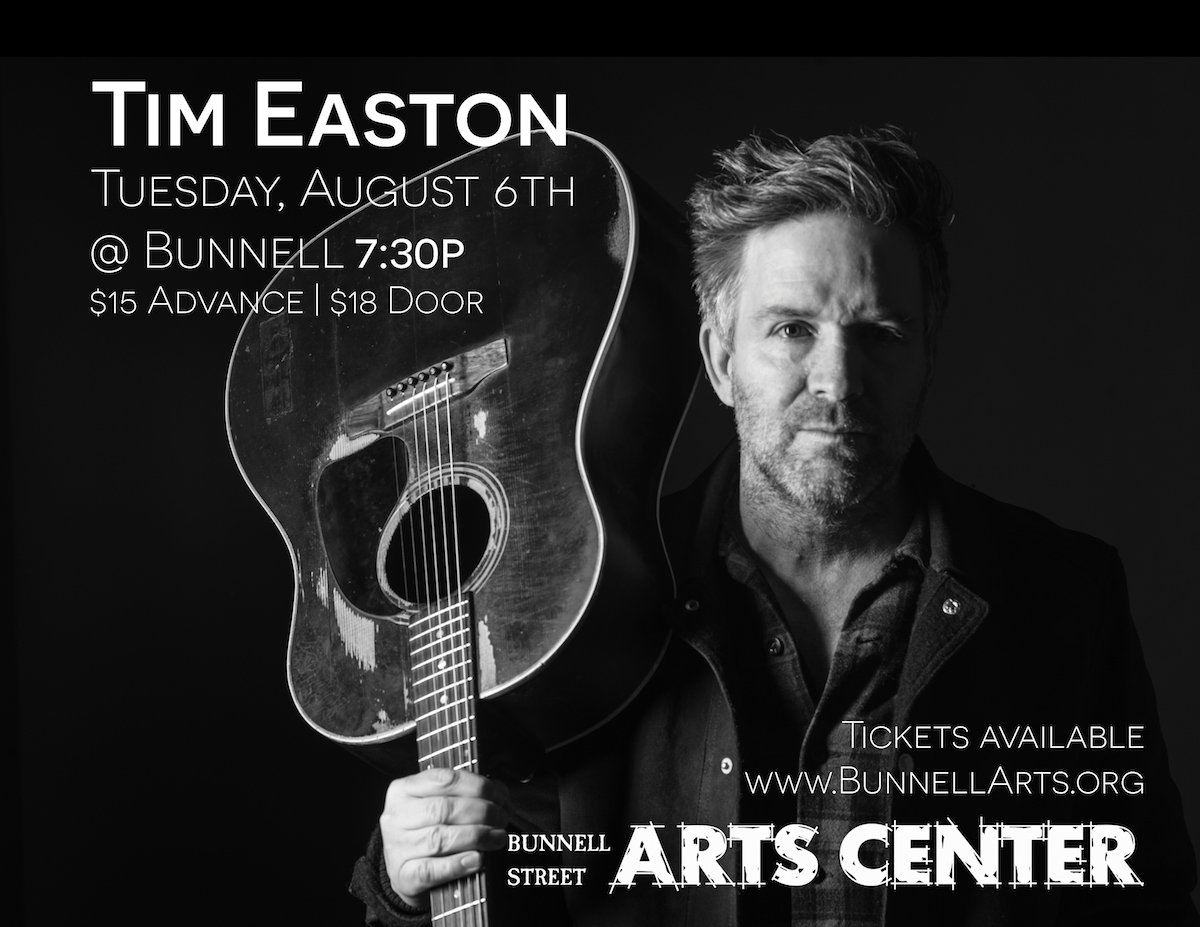 Tim Easton Concert 8/6, 7:30p