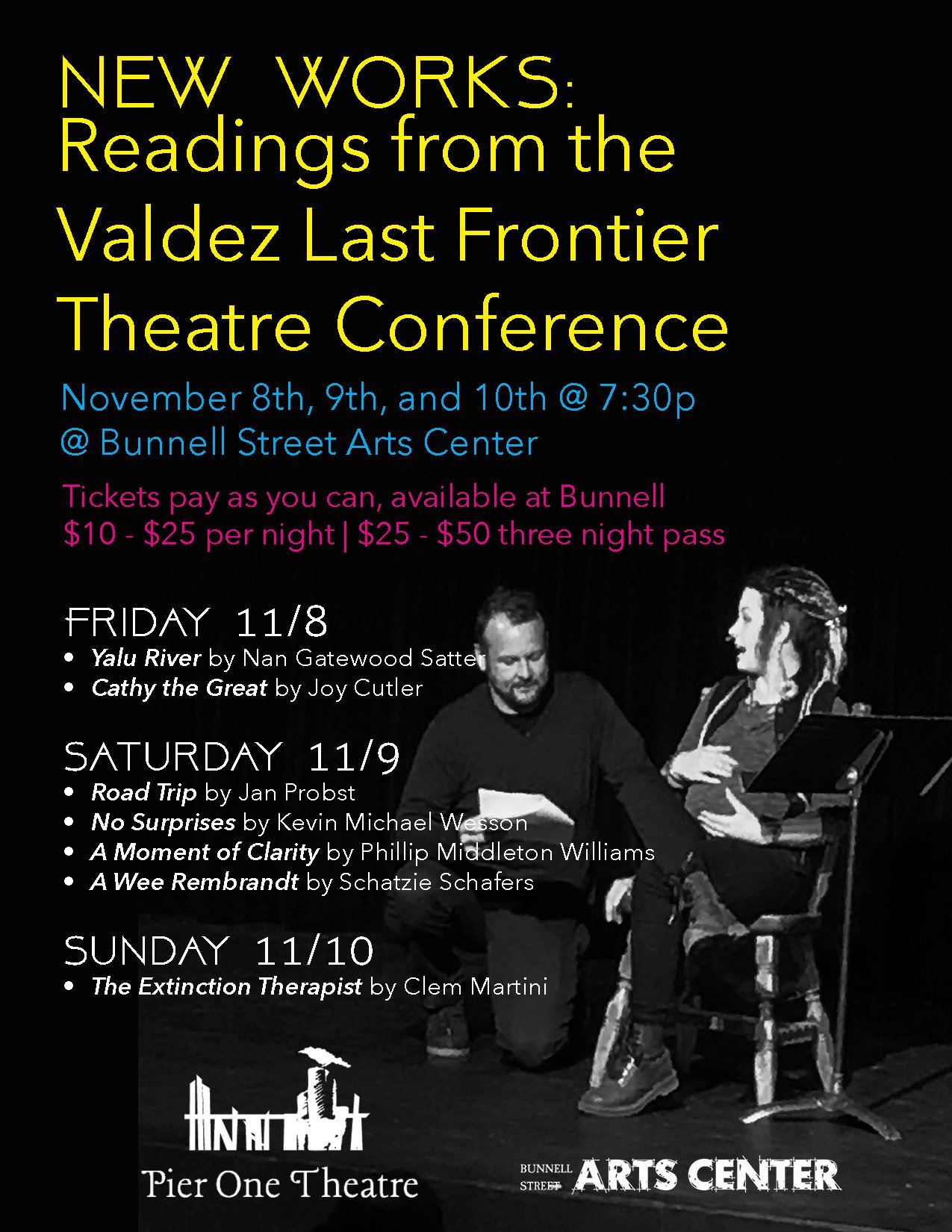 Readings From The Valdez Last Frontier Theatre Conference, 11/8-11/10