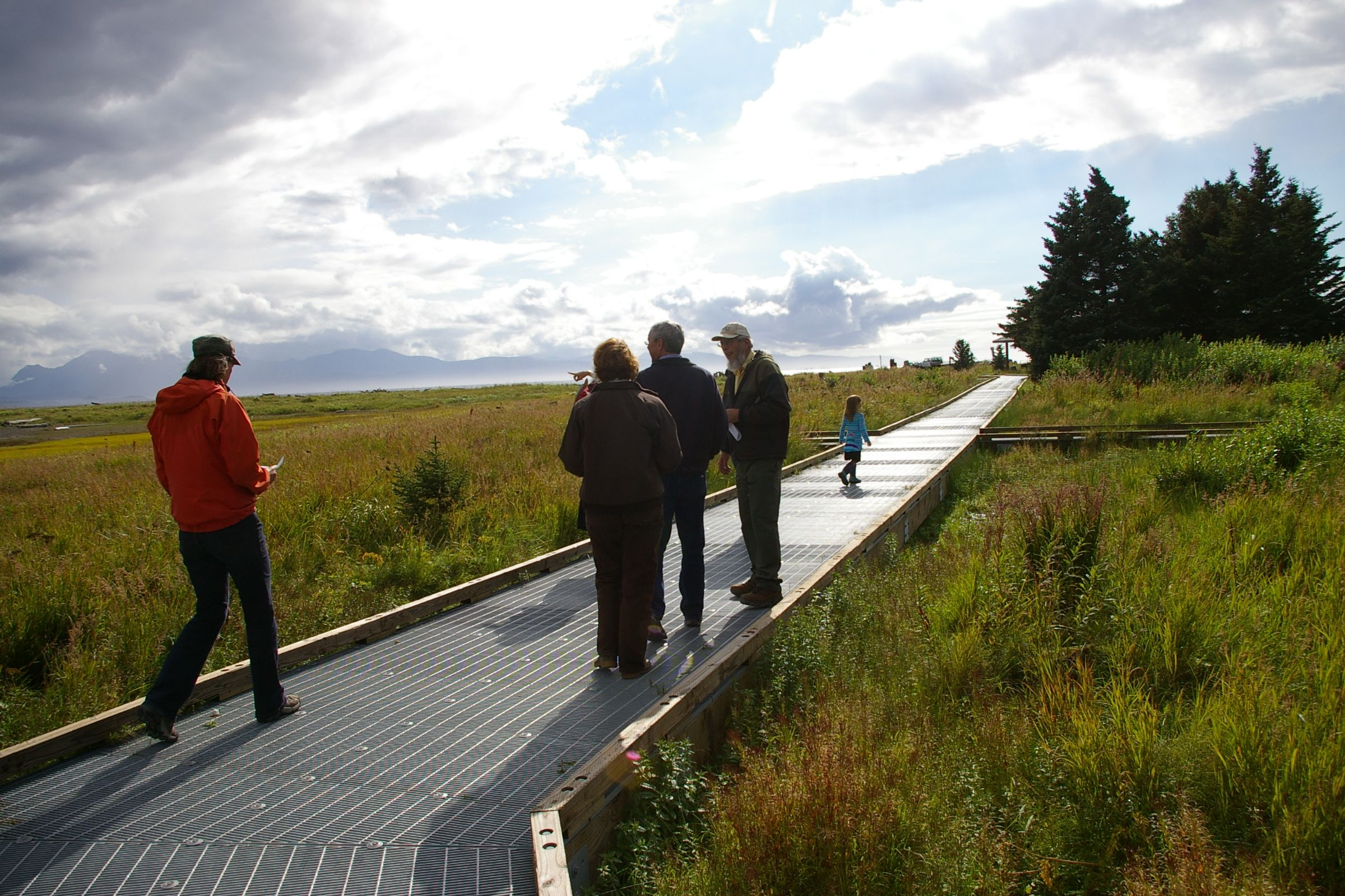 Wendy Erd Led Representatives From Bunnell Street Arts Center, The City Of Homer, Alaska Maritime National Wildlife Refuge, And The Kachemak Bay Research Reserve Along The Islands And Ocean's Beluga Slough Trail, As She Recited Her Site-specific Poems Which Will Be Installed In May Of 2014.